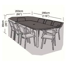 protector 8 seater rectangular patio set cover 295cm ref w1212