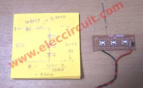 diy simple v led light electronic projects circuits circuit diagram and assemble 12v led light