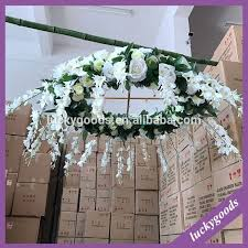 lfb628 luxury event party hanging fake flower chandelier