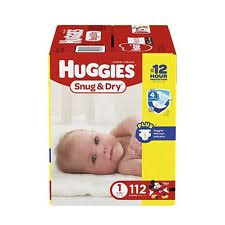 huggies size 7 huggies snug and dry diapers size 1 newborn up baby 112 count ebay