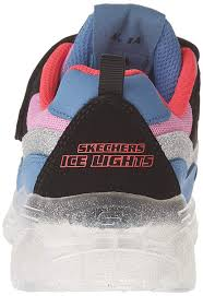 Skechers Ice Lights Amazon Com Skechers Kids Girls Ice Lights Shoe Black Pink