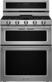 kitchenaid stove double oven. kitchenaid - 6.0 cu. ft. self-cleaning free-standing double oven gas kitchenaid stove a