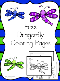 Small Picture Dragonfly Coloring Pages Cute free and fun for little ones