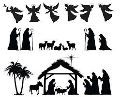 nativity silhouette patterns download. Interesting Nativity Nativity Silhouette Vector Art Illustration For Patterns Download G