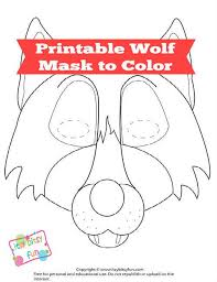 Free printable coloring pages for children that you can print out and color. Free Printable Wolf Mask Template Itsybitsyfun Com