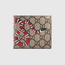 gucci wallet for men. gucci snake print gg supreme coin wallet. #gucci #men\u0027s bi-fold gucci wallet for men
