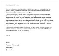 Academic Recommendation Letter For Scholarship - April.onthemarch.co