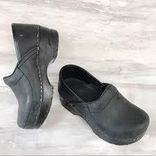Sanita Shoe Size Conversion Chart Sanita Child S Toddler Black Leather Clogs 27