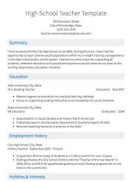 Example Teaching Resumes Teaching Resume Sample Resume Com