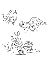 Bộ sưu tập tranh tô màu các con vật nuôi trong nhà, dưới nước, trong rừng - Tranh  Tô Màu cho bé