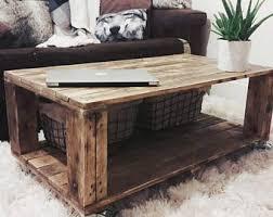 pallet furniture etsy. Reclaimed Industrial Wood Coffee Table AHVIMA In Roast Finish, Boho Living Room Pallet Furniture Etsy