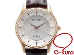 citizen watch ecodrive lady s e031 s103754 solar ss leather belt citizen light charge type deep