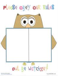 classroom rules template owl rules anchor chart classroom freebies anchor charts and chart