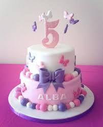 Pink And Purple Butterfly Girls Birthday Cake Party Ideas
