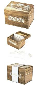 pantry collection herb garden motif wooden recipe box by twine personalized wood tr