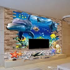 3d wallpaper mural 3d seabed fish wall sticker nursery wall decor baby fish ocean underwater world wallpaper home decor high resolution desktop