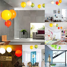 25cm e27 balloon chandelier ceiling pendant light modern wall lamp fixture party decor gift