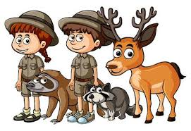 zookeeper clipart. Modren Clipart Zookeepers And Many Animals Illustration Intended Zookeeper Clipart O