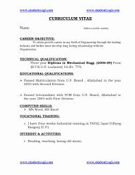 Diploma Mechanical Engineering Resume Format Engineer Fresh