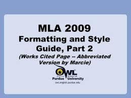 Ppt Mla Works Cited Powerpoint Presentation Id 6798633