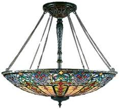 fancy stained glass chandeliers style pendant from the collection stained glass fan light kit