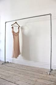 galvanised steel pipe simple elegant freestanding clothes rail rack bespoke urban bedroom furniture or ings
