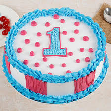 Adorable 1st Bday Vanilla Cake 1 Kg Gift Cakes Delivery Ferns N