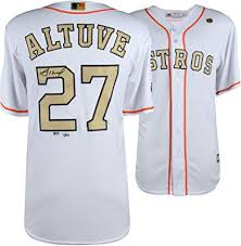 Store Astros Gold At 2018 Jose Sports Majestic Amazon's Replica Autographed Program Fanatics Altuve Houston Certified Authentic - Collectibles Jersey