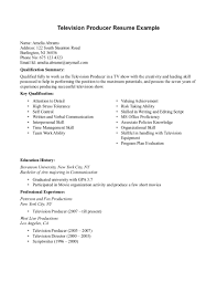 Theatre Producer Sample Resume Television Editor Resume Sample Danayaus 18