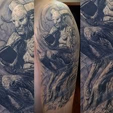 татуировка фавна на плече парня фото рисунки эскизы