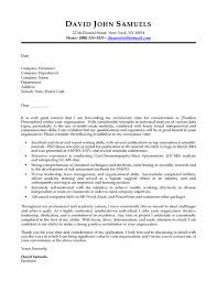 cover letter sles templates