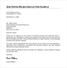 decline job offer letter exles infoupdate org how to write a declining