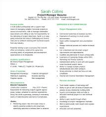 Project Manager Sample Resume Format Fabulous Resume Format For It ...