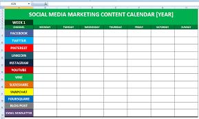 Marketing Planner Excel Social Media Report Template Buscar Con Google Marketing Plans
