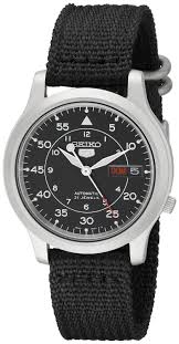 best sellers best men s watches seiko 5 men s automatic watch black dial analogue display and black fabric strap snk809k2