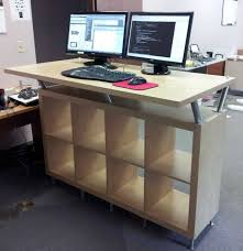 Adjustable Height Desk Ikea Furniturestanding Shelves With On Decorating
