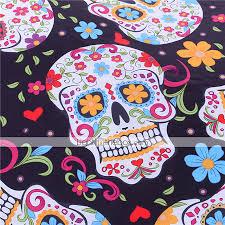 sugar skull bedding duvet cover set twin full queen