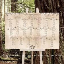 Mason Jar Wedding Seating Chart Antique Enchanted Forest
