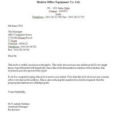 Typing Business Letter Styles Format Business Letter Okhtablog