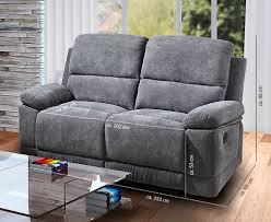 Lifestyle4living 2 Sitzer Sofa In Grauer Microfaser Mit