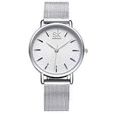 <b>SK Fashion</b> Women Watches Silver Stainless Steel Quartz Discount ...