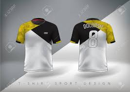 Yellow And Black T Shirt Designs Soccer Sport T Shirt Design Slim Fitting Black And Yellow With