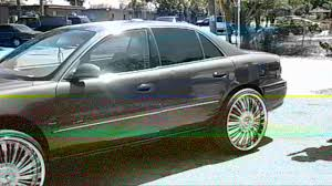 PiefacePresentsWhips)98 Buick Century On 24 DUB Spinners - YouTube
