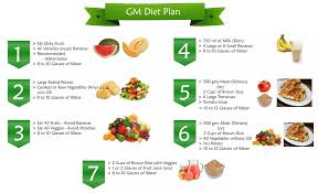 Travel And Health Guide Gm Diet Plan 7day Result