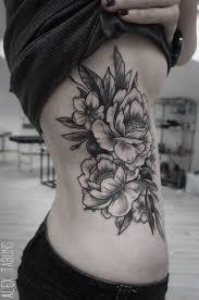 Black White Belly Tattoo Design Tattoo 13