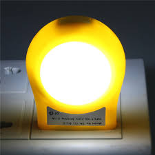 mini led 0 7w ac 110v 240v light control auto sensor night lamp colorful emergency