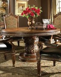 ornate dining room table and chairs. 7 piece round ornate carved dining table and six chair set room chairs