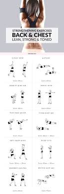 Chest Workout Chart Step By Step Chest And Back Strengthening Exercises Lean Strong And
