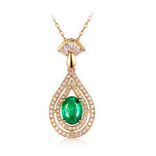 beautiful jewelry sets natural diamond 14k yellow gold colombia emerald pendant