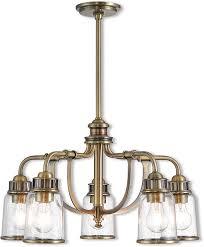 livex 40025 01 lawrenceville modern antique brass mini chandelier light loading zoom